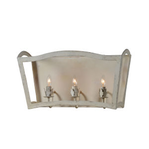 Cottage White 24-Inch Three-Light Bath Bar