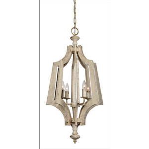 Brower Cottage White Four-Light Pendant
