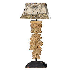Hatley Gold and Weathered Metal 38-Inch One-Light Table Lamp
