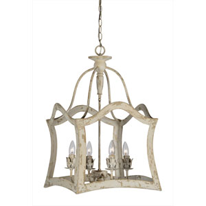 Aubrey Cottage White Four-Light Pendant