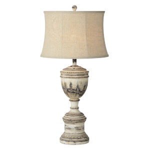 Denver Weathered Brown One-Light 34-Inch Table Lamp Set of Two
