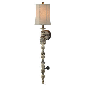 Washed Wood 10-Inch One-Light Plug-In Wall Sconce