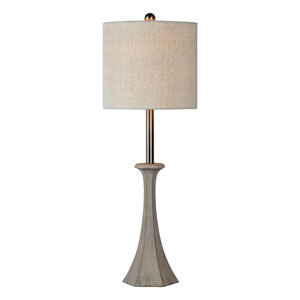 Deacon Grey Silver One-Light Buffet Lamp