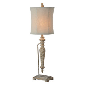 Celine Worn Brown and Cream Wash One-Light 35-Inch Table Lamp