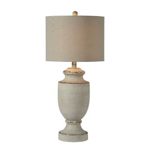 Gray Wash 34-Inch One-Light Table Lamp