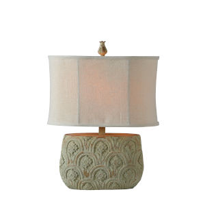 Mary Distressed Blue and Green One-Light 22-Inch Table Lamp