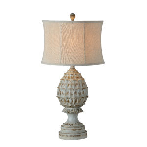 Susan Distressed Blue One-Light 33-Inch Table Lamp