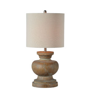 Beane Washed Wood One-Light 29-Inch Table Lamp