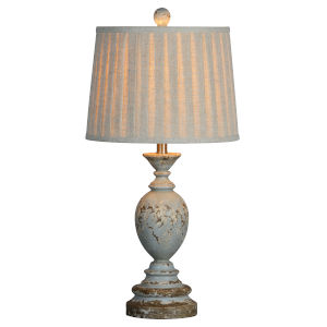 Pearl Rustic Blue One-Light 28-Inch Table Lamp