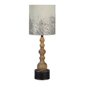 Knight Washed Wood One-Light 32-Inch Table Lamp
