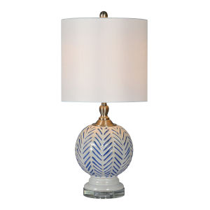 Lulu Blue and White One-Light 25-Inch Table Lamp