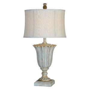 Jillian Antique Blue One-Light 31-Inch Table Lamp Set of Two