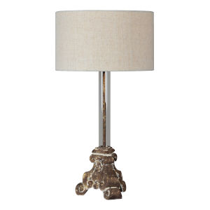 Joy Nell Rustic Gold One-Light 30-Inch Table Lamp