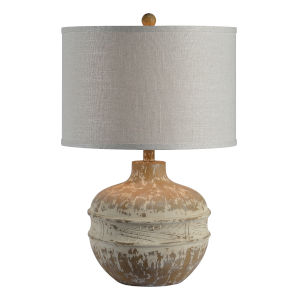 Tupelo Washed Wood-Look One-Light 28-Inch Table Lamp