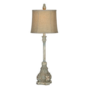 Rita Antique Blue One-Light 32-Inch Buffet Lamp
