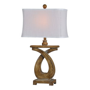 Otto Distressed Wood One-Light 30-Inch Table Lamp