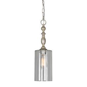 Sellers Dusky Silver One-Light Mini Pendant