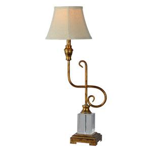 Gideon Old World Gold One-Light Buffet Lamp