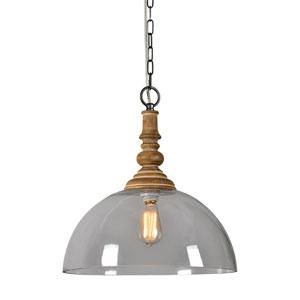 Carter Natural Wood One-Light Pendant