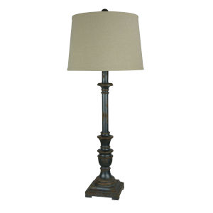 Rory Aged Raw Metal One-Light 35-Inch Buffet Lamp