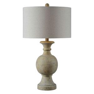 Ellis Faux Stone One-Light Table Lamp