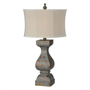 Eloise Dusky Blue and Copper One-Light Buffet Lamp