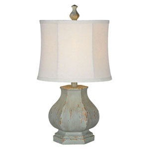 Fiona Distressed Blue One-Light Table Lamp