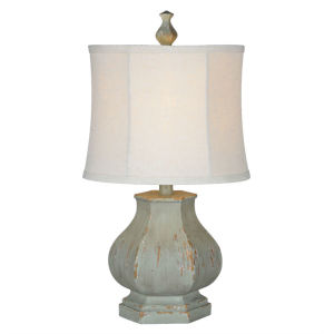 Fiona Cottage Sea Mind and Brown Distressing  One-Light 22-Inch Table Lamp