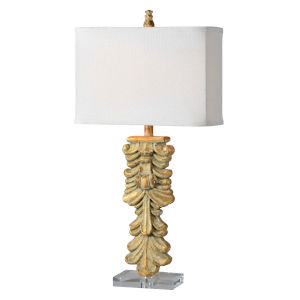 Vaughn Distressed Gold One-Light 30-Inch Table Lamp