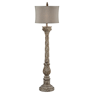 Ruby Taupe with Gold Accents 66-Inch One-Light Floor Lamp