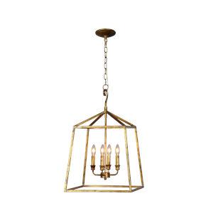 Darba Old Gold 16-Inch Six-Light Pendant