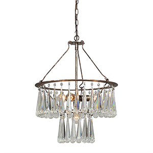Nottingham Silverleaf 26-Inch Four-Light Chandelier