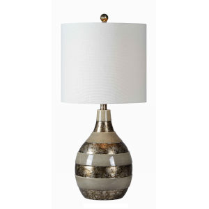 Clemett Silver Tone One-Light 28-Inch Table Lamp