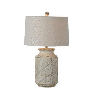 Hampton White Wash  27-Inch Table Lamp