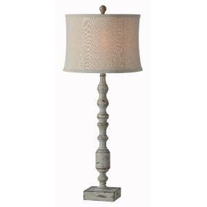 Harris Distressed Gray One-Light 34-Inch Buffet Lamp