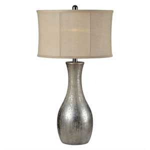 Hazel Antique Silverleaf One-Light Table Lamp