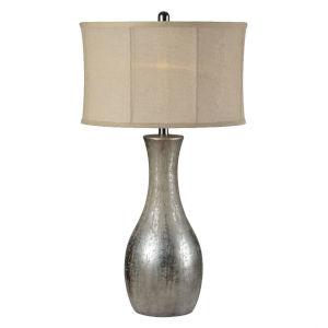 Hazel Antique Silverleaf One-Light 30-Inch Table Lamp, Set of Two