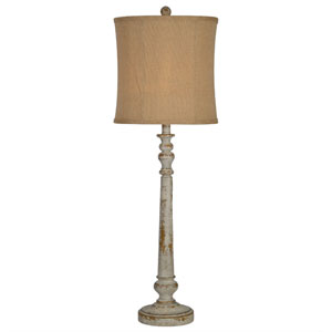 Carly Distressed Vintage One-Light Table Lamp