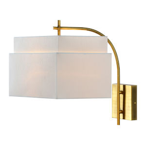 Gold 15-Inch One-Light Plug-In Wall Sconce