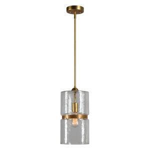 Gold 8-Inch One-Light Mini Chandelier