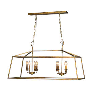 Addie Old Gold 42-Inch Eight-Light Pendant