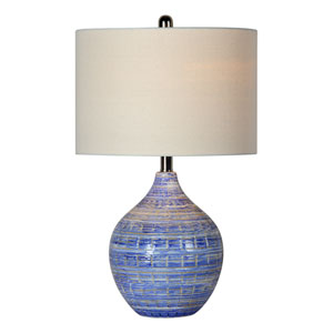 McKenzie Blue and White One-Light Table Lamp