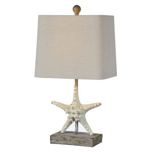 Darla Driftwood One-Light 20-Inch Table Lamp