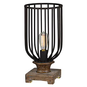 Wyatt Weathered Wood and Warm Bronze 17-Inch One-Light Uplight