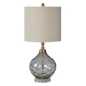 Hattie Gray and Gold One-Light 28-Inch Table Lamp
