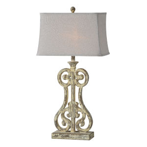 Holly Cottage White One-Light 32-Inch Table Lamp