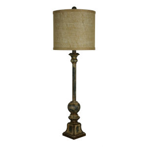 Kendrick Forest Green, Cream and Brown Accents One-Light 32-Inch Buffet Lamp