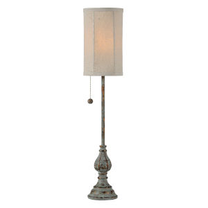 Millie Blue and Gold One-Light 28-Inch Buffet Lamp