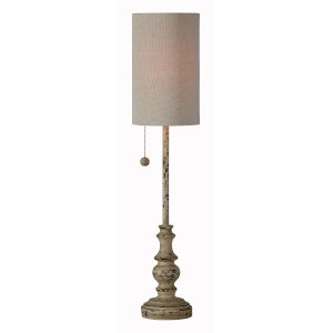 Jude Distressed Brown One-Light 28-Inch Buffet Lamp