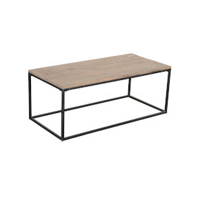Liam Reclaimed Wood and Iron  Coffee Table